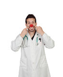 Clown Doctor Making Face Royalty Free Stock Photos