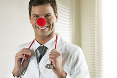 Clown Doctor Portrait Stock Photography