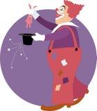 Clown doing a magic trick Stock Image