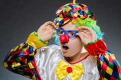 Clown drôle Photographie stock