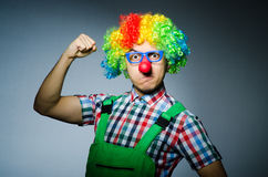 Clown drôle Photographie stock