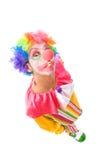 Clown drôle Photos stock