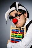 Clown drôle avec l'abaque Images libres de droits