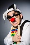 Clown drôle avec l'abaque Photographie stock libre de droits