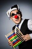 Clown drôle avec l'abaque Images stock