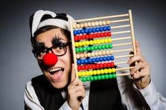 Clown drôle avec l'abaque Image libre de droits