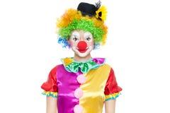 Clown drôle - colorfullportrait photo libre de droits