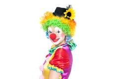 Clown drôle - colorfullportrait images libres de droits