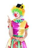 Clown drôle - colorfullportrait image stock