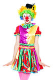 Clown drôle - colorfullportrait Photo stock