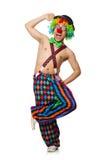 Clown drôle d'isolement photographie stock libre de droits