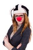 Clown drôle de femme Photo stock