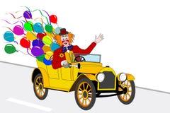 Clown driver vector illustration