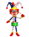 Clown with Drum Royalty Free Stock Photography