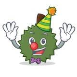 Clown Durian mascot cartoon style. Vector illustration Stock Image