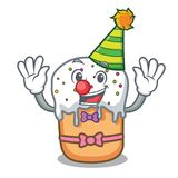 Clown easter cake mascot cartoon. Vector illustration Stock Images