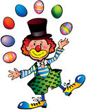 Clown with easter eggs. Royalty Free Stock Photo