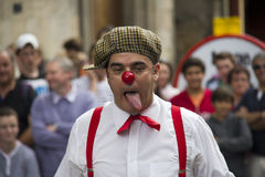 Clown at Edinburgh Festival Fringe Stock Images