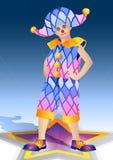 Clown in een kostuum Stock Fotografie