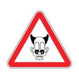 Clown effrayant d'attention Cirque de danger Panneau routier rouge de précaution Le VE illustration stock