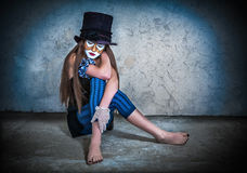 Clown effrayant de monstre de verticale Photo libre de droits