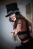 Clown effrayant de monstre de verticale Images stock