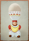 The clown and the egg Royalty Free Stock Photography