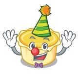 Clown egg tart mascot cartoon. Vector illustration Stock Image