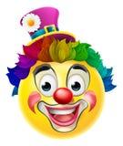 Clown Emoji Emoticon stock illustrationer