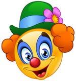 Clown emoticon royalty-vrije illustratie