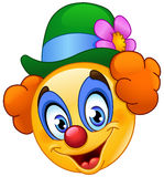 Clown emoticon Royalty Free Stock Images