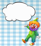 A clown with empty callouts Stock Images