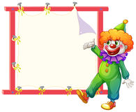 A clown beside an empty signage Stock Images