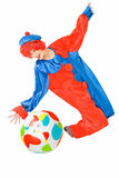 Clown en bal Stock Afbeeldingen