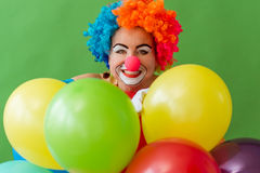 Clown espiègle drôle Photo stock
