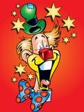 Clown et étoiles Photos libres de droits