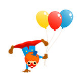 Clown et ballons illustration stock