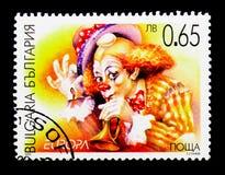Clown Europa C E P T 2002 - Cirkusserie, circa 2002 Royaltyfri Fotografi