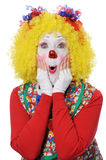 Clown Expressing Surprise Stock Images