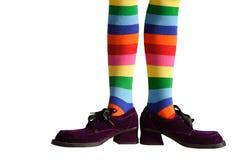 Clown-Füße getrennt Stockfotografie