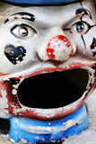 Clown face. Face of a deteriorating model clown Royalty Free Stock Photo