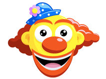Clown Face. Illustration of a very colorful and happy isolated clown face Stock Photos
