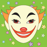 Clown face Stock Photo