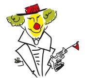 Clown face stock illustration