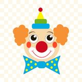 Clown face royalty free illustration