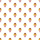Clown face with hat pattern Royalty Free Stock Photos
