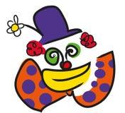 Clown face illustration royalty free illustration