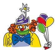 Clown face illustration stock photos