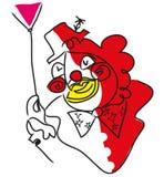 Clown face illustration vector illustration