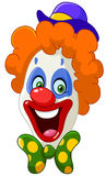 Clown face. Illustration of a happy clown face